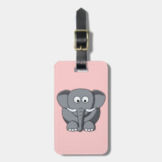 Cartoon Elephant lugage Tag