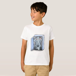 Cartoon elephant sitting inside a refrigerator T-Shirt