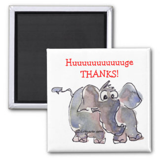 Cartoon Elephant Thank You Gift Magnet