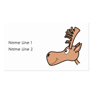 Cartoon Elk Moose. Business Cards