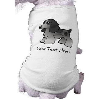 Cartoon English Cocker Spaniel Sleeveless Dog Shirt