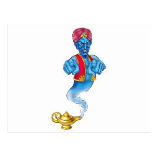 Cartoon Evil Genie Pointing Postcard
