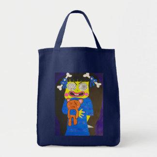Cartoon Evil Zombie Girl Tote Bag