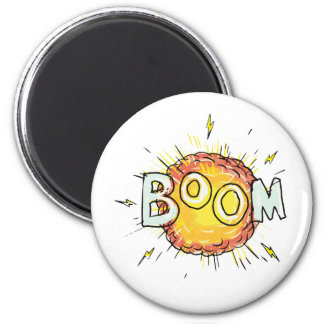 Cartoon Explosion Boom Magnet