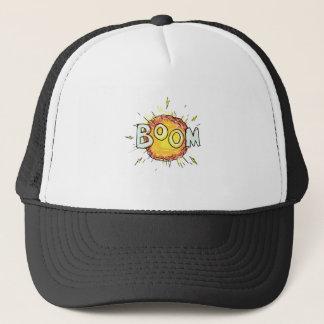 Cartoon Explosion Boom Trucker Hat