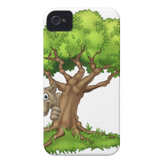Cartoon Fairytale Big Bad Wolf and Tree iPhone 4 Case-Mate Case