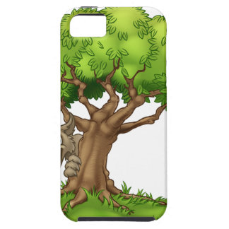 Cartoon Fairytale Big Bad Wolf and Tree iPhone 5 Cases