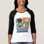 Cartoon Farm Animals - I'd rather be farming! Tshirt
