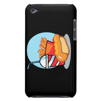 cartoon fast food meal barely there iPod cases