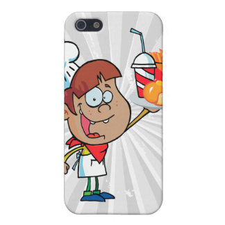 cartoon fast food waiter character cases for iPhone 5