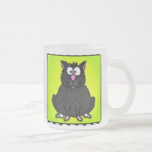 Cartoon Fat Cat Coffee Mugs