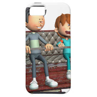 Cartoon Father and Son on a Ferris Wheel Case For The iPhone 5
