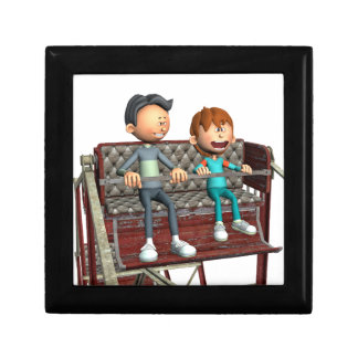Cartoon Father and Son on a Ferris Wheel Gift Box