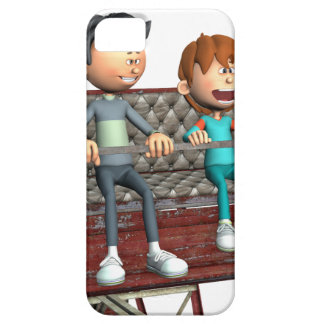 Cartoon Father and Son on a Ferris Wheel iPhone 5 Cover