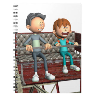 Cartoon Father and Son on a Ferris Wheel Note Book