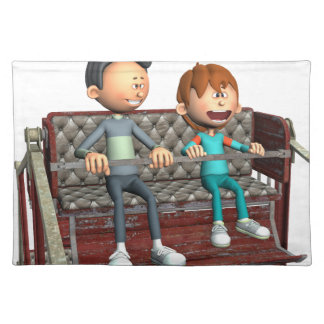 Cartoon Father and Son on a Ferris Wheel Placemat