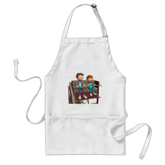 Cartoon Father and Son on a Ferris Wheel Standard Apron
