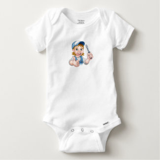 Cartoon Female Electrician Holding Screwdriver Baby Onesie