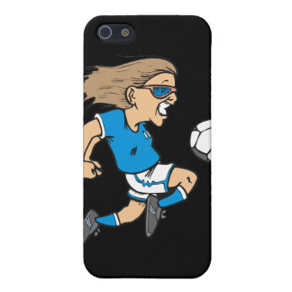 Cartoon Female Soccer Star and Gifts iPhone 5/5S Cases