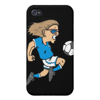 Cartoon Female Soccer Star and Gifts Covers For iPhone 4