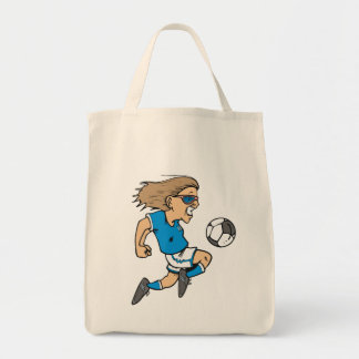Cartoon Female Soccer  Star T-shirts and Gifts Canvas Bag