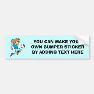 Cartoon Female Soccer  Star T-shirts and Gifts Car Bumper Sticker