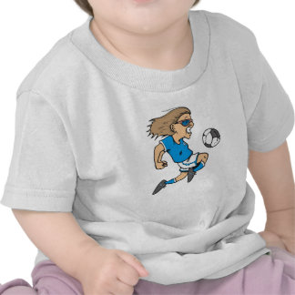 Cartoon Female Soccer  Star T-shirts and Gifts