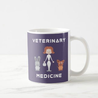Cartoon Female Veterinary Medicine Coffee Mug