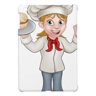 Cartoon Female Woman Baker or Pastry Chef iPad Mini Covers