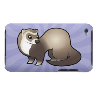 Cartoon Ferret Barely There iPod Cases