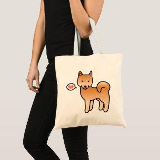 Cartoon Finnish Spitz Love Tote Bag