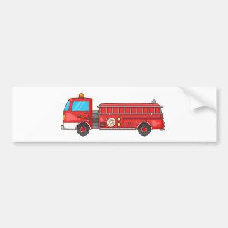 Cartoon Fire Truck/Engine Bumper Stickers