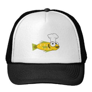 Cartoon Fish Cook Trucker Hat