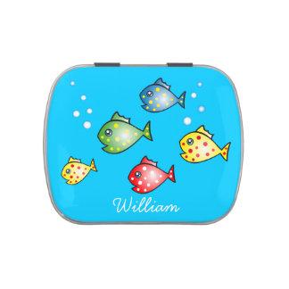 Cartoon Fish Customizable Candy Tin