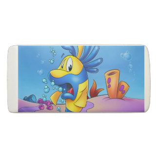 cartoon fish eraser with flitch fish