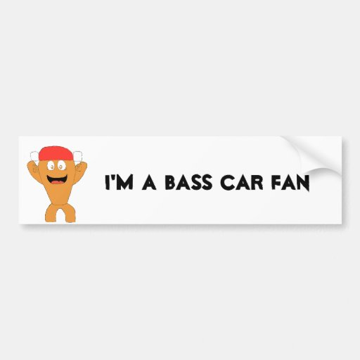 Cartoon Fish Nascar Fan Bumper Stickers