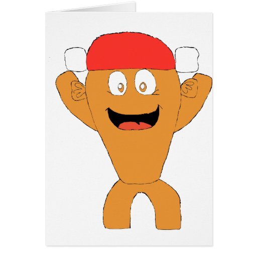 Cartoon Fish Nascar Fan Greeting Card