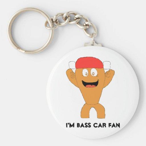 Cartoon Fish Nascar Fan Key Chains