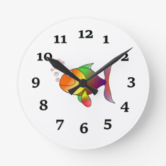Cartoon Fish Round Clock