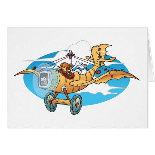 Cartoon Flivver Card