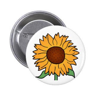 Cartoon Flowers Summer Floral Sunflower Buttons