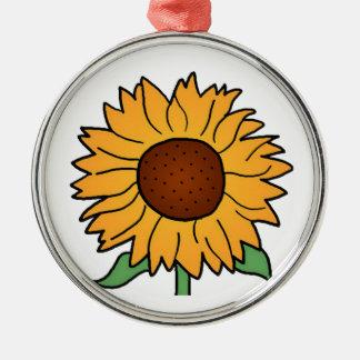 Cartoon Flowers, Summer Floral Sunflower Christmas Tree Ornaments