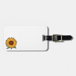 Cartoon Flowers, Summer Floral Sunflower Tag For Luggage