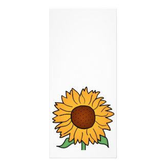 Cartoon Flowers Summer Floral Sunflower Customized Rack Card