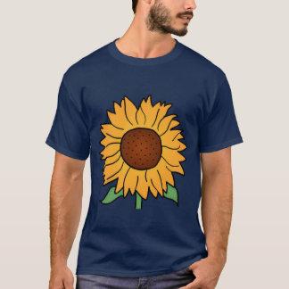 Cartoon Flowers, Summer Floral Sunflower T-Shirt