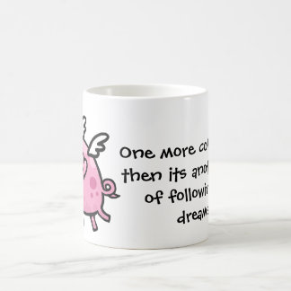 Cartoon Flying pig customisable text mug