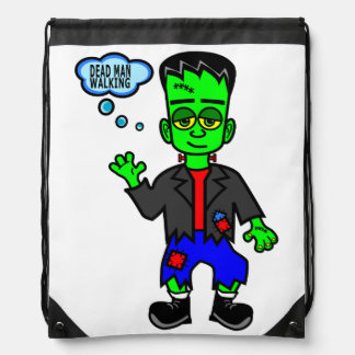 Cartoon Frankenstein's Monster Boy Drawstring Backpack
