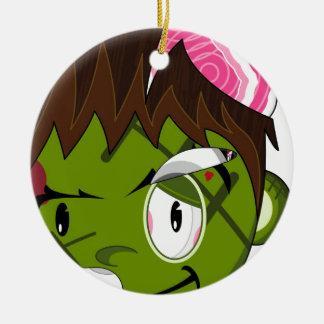Cartoon Frankensteins Monster Round Ceramic Decoration