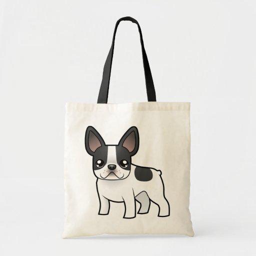 Cartoon French Bulldog Bag