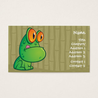 Cartoon Frog Business Crad Business Card